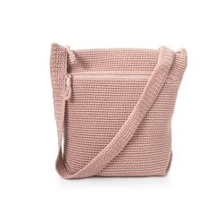 Soft Pink Crochet Cross Body Bag