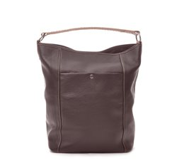 Brown Bucket Bag Grained Leather