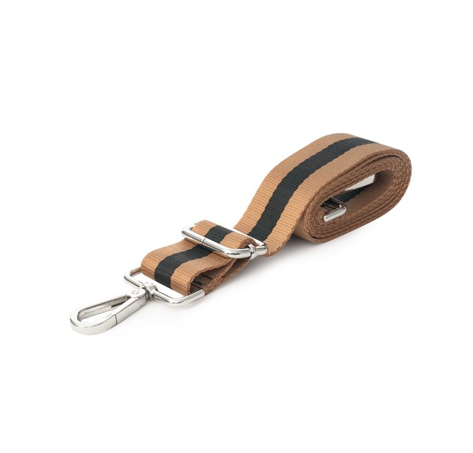 Shoulder Strap in Black/Camel