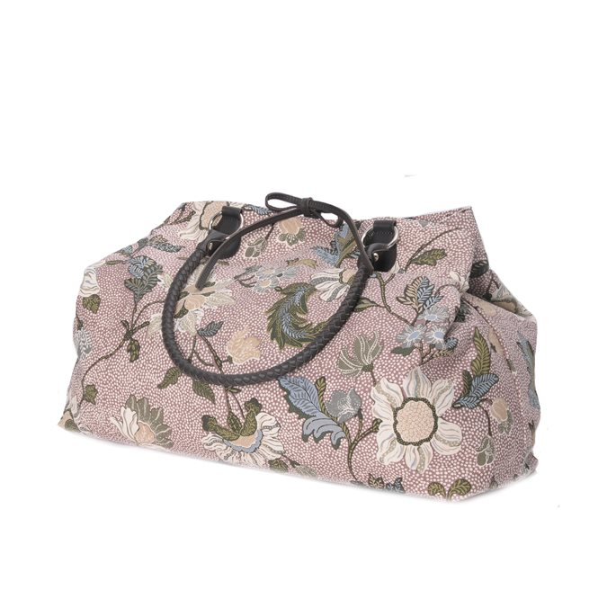 Weekend Bag Dusty Pink Flower Linen