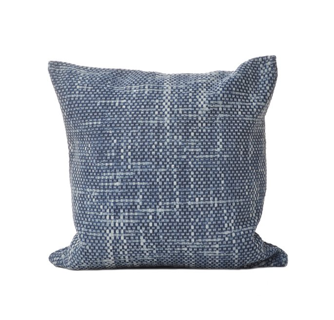 C/c 50x50 Denim Blue Braided Denim Cushion